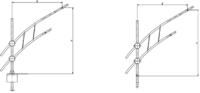 Кронштейны для консольных светильников и прожекторов