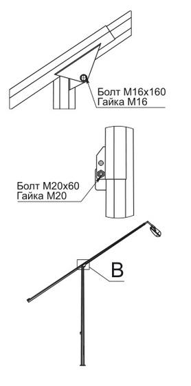 Опоры граненые конические складывающиеся ОГКС